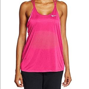 Nike Breezy Strappy Hot Pink Tank Top - XS